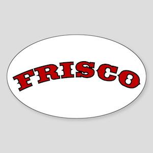 FRISCO ARCH Oval Sticker