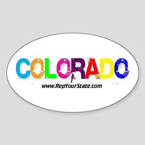 Colorful Colorado Oval Sticker