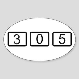 305 Calc Style Oval Sticker