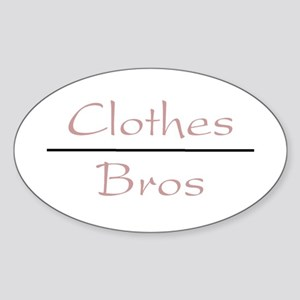 Clothes Over Bros Oval Sticker