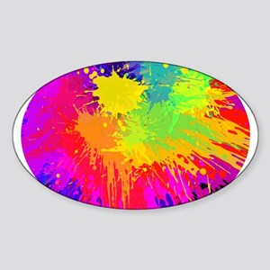 Colourful paint splatter Sticker