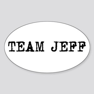 TEAM JEFF Oval Sticker