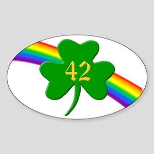 42nd Shamrock Oval Sticker