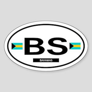 Bahamas 2F Oval Sticker