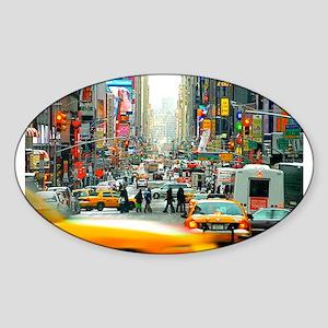 Times Square: No. 10 Sticker (Oval)