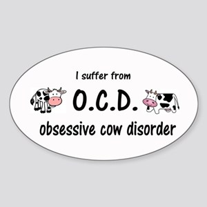 Obsessive Cow Disorder Sticker