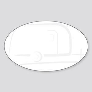 Airstream_16_outline_white_300ppi Sticker (Oval)