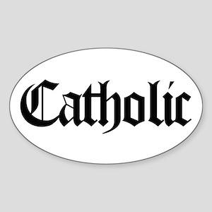 Catholic Oval Sticker