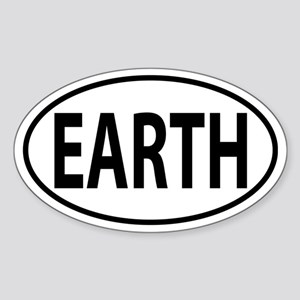 Earth Sticker (Oval)