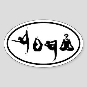 YOGA Oval decal Sticker