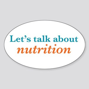 Talk Nutrition Sticker (Oval)