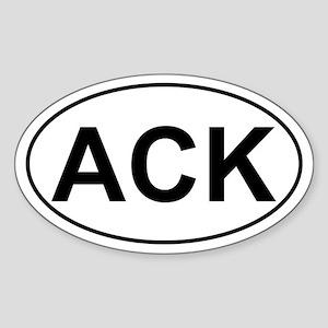 ACK Oval Sticker