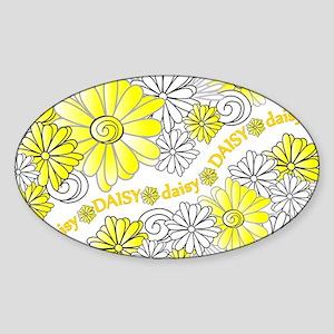 Oopsie Daisy Design Oval Sticker
