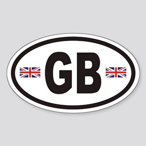 GB Great Britain Euro Style Oval Sticker