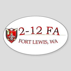 2nd Bn 12th FA Sticker (Oval)