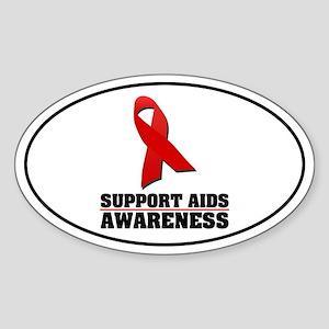 AIDS Awareness Oval Sticker