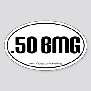 .50 BMG Oval Sticker