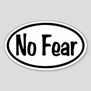 No Fear Oval Sticker (Oval)