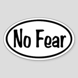 No Fear Oval Sticker (Oval)