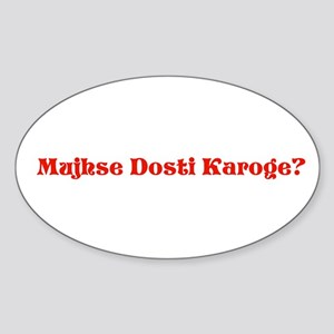 Dosti Oval Sticker
