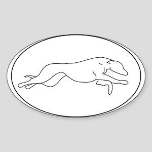 Greyhound Outline multi color Sticker (Oval)