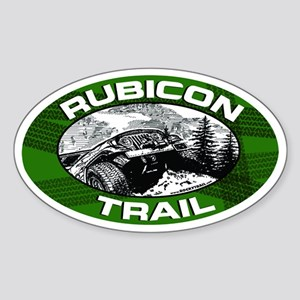 Rubicon Trail Green Oval Oval Sticker