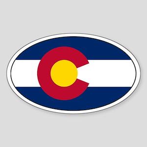 Colorado Flag Stickers Oval Sticker