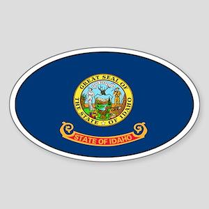 Idaho State Flag Oval Sticker