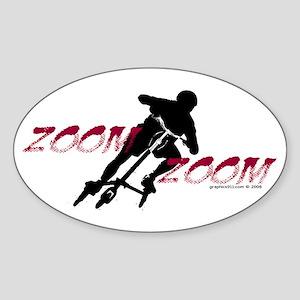 ZOOM ZOOM Oval Sticker