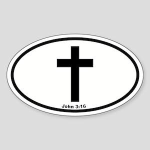 Cross Oval Oval Sticker