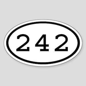 242 Oval Oval Sticker
