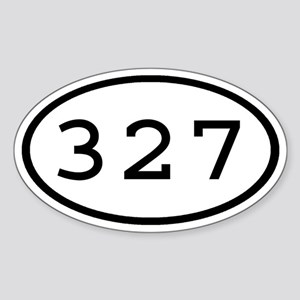 327 Oval Oval Sticker