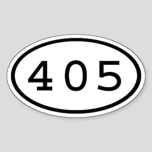 405 Oval Oval Sticker