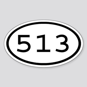 513 Oval Oval Sticker