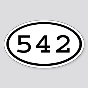 542 Oval Oval Sticker