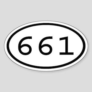 661 Oval Oval Sticker