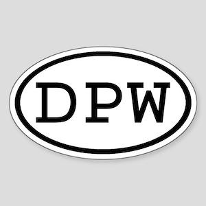DPW Oval Oval Sticker
