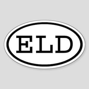 ELD Oval Oval Sticker