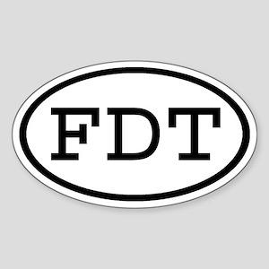 FDT Oval Oval Sticker