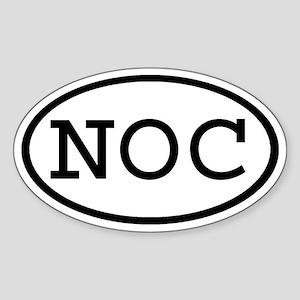 NOC Oval Oval Sticker