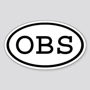 OBS Oval Oval Sticker
