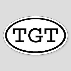 TGT Oval Oval Sticker