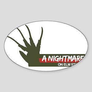 A Nightmare on Elm Street Sweater Sticker (Oval)