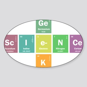 Geek science Sticker (Oval)