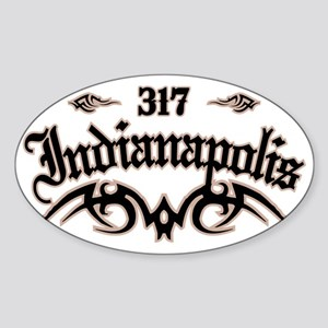 Indianapolis 317 Sticker (Oval)