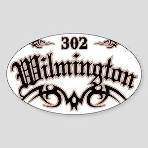 Wilmington 302 Sticker (Oval)