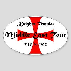 Knights Templar world Tour Sticker (Oval)