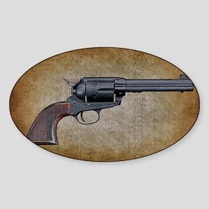 Wild West Pistol 1 19 Sticker (Oval)
