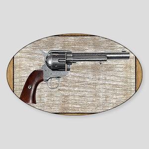 Wild West Pistol 2 19 Sticker (Oval)