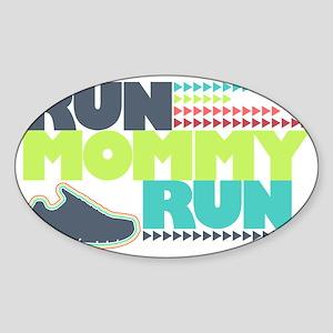 Run Mommy Run - Shoe Sticker (Oval)